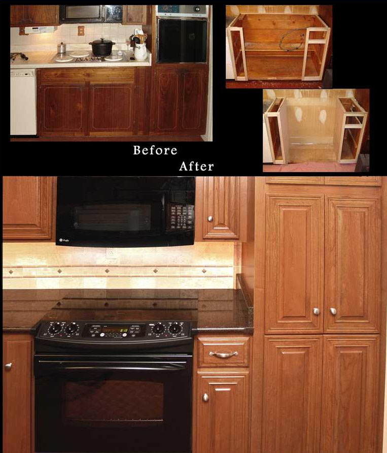 Reface cabinets before and after reno nv refaced for Kitchen cabinets reno
